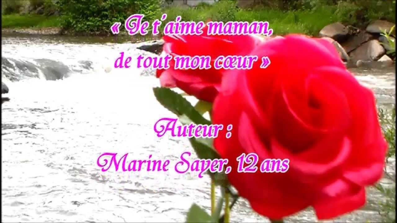 Fête Des Mères Joli Poème Pour Sa Maman Youtube