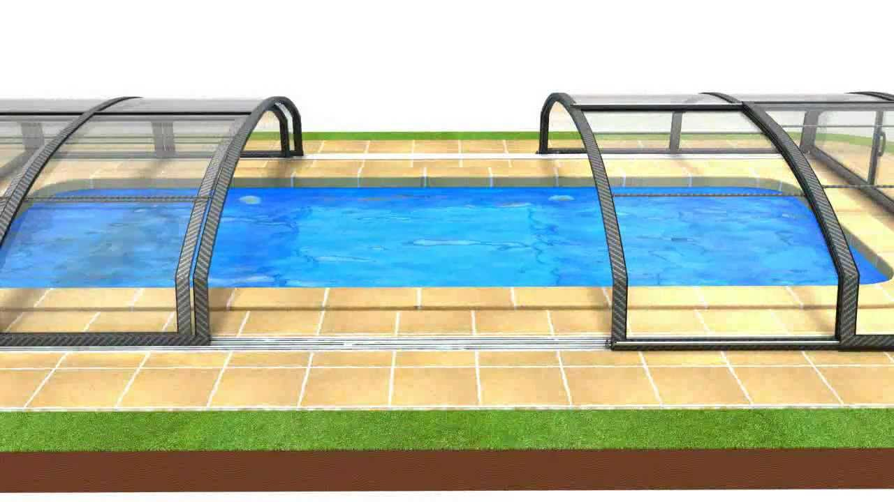 pool express schwimmbad berdachung casablanca infinity a b 3d animation youtube. Black Bedroom Furniture Sets. Home Design Ideas