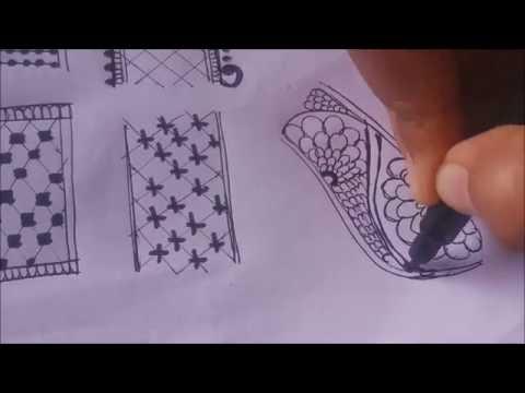 heena basics | #9 DIY Henna Design | Henna/Mehndi Tutorial | Learn basic border embellishment