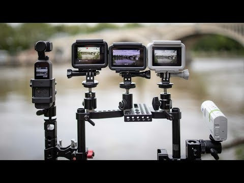 DJI Osmo Action & Pocket/ GoPro Hero 7/ Sony X3000 Stabilisation Side By Side