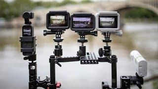 DJI Osmo Action & Pocket/ GoPro Hero 7/ Sony X3000 stabilisation side by side