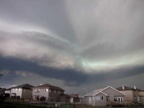 Storm in Beaumont, Alberta Canada 2012