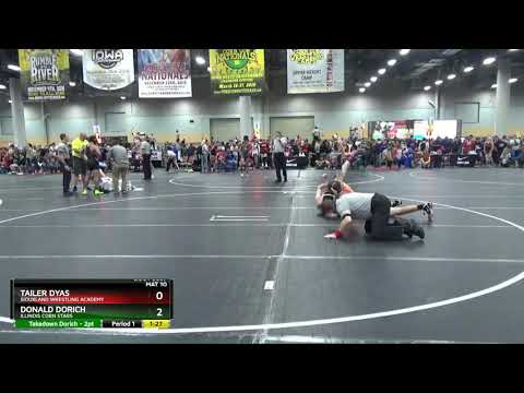 High School (9th - 10th Grade) 160 Tailer Dyas Siouxland Wrestling Academy Vs Donald Dorich Illino