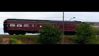 Amtrak 48 Dunkirk, NY 166 140 with Pullman Private Car trailing