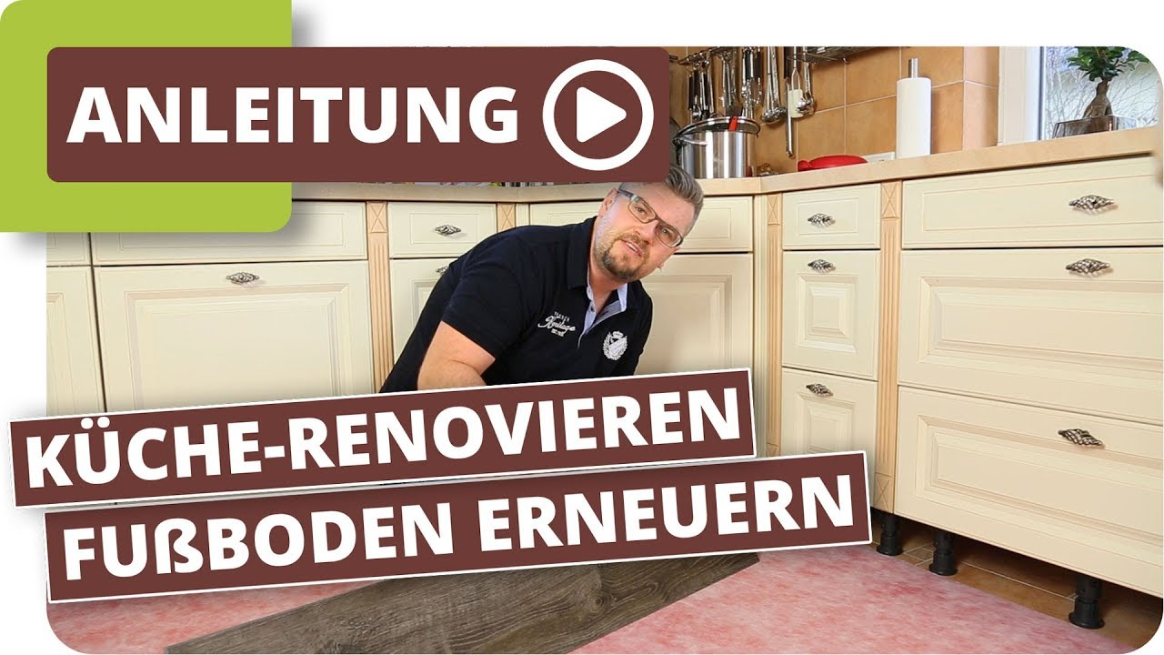 fu boden erneuern ohne k chen ausbau youtube. Black Bedroom Furniture Sets. Home Design Ideas