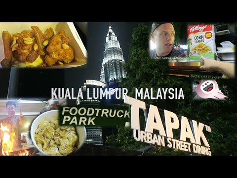 Food Truck Adventures VLOG in Malaysia (FIRE) 🔥 Kuala Lumpur Tapak Street Foodtruck Park 2017