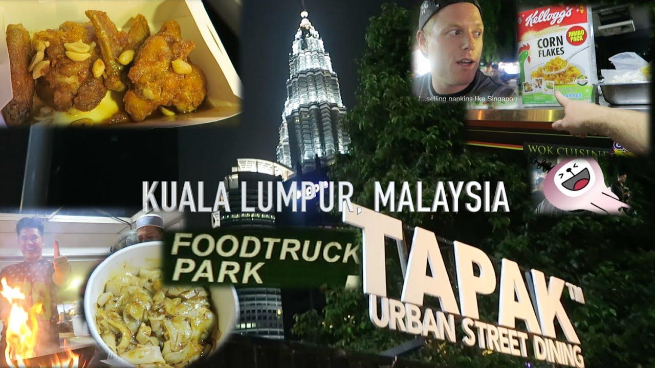 Food Truck Adventures VLOG in Malaysia (FIRE) ? Kuala Lumpur Tapak Street Foodtruck Park 2017