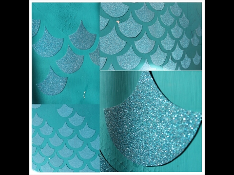 MERMAID GLITTER WALL DECOR
