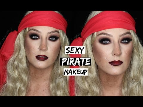 SEXY PIRATE MAKEUP TUTORIAL | 31 Days of Halloween | GLAMNANNE