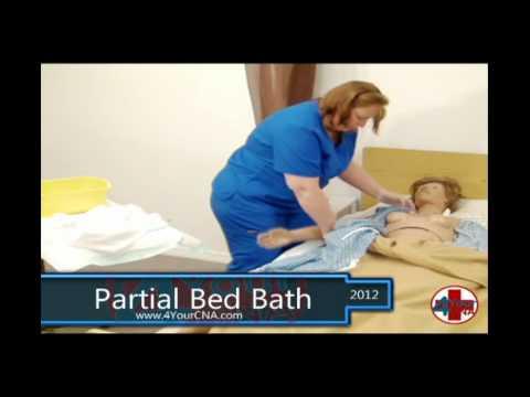 Partial Bed Bath CNA Skills