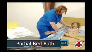 Repeat youtube video Partial Bed Bath CNA Skills