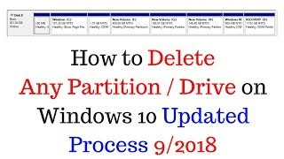 How to Delete Any Partition / Drive on Windows 10 Updated Process