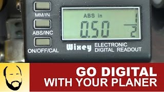 Installing A Wixey Wr510 Digtial Planer Readout On A Dewalt Dw735 Planer