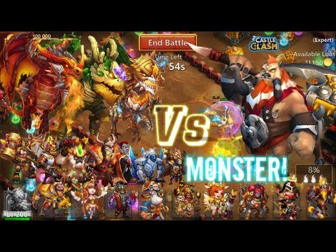 AMAZING! Heroes 1V1 Centaur King! Who Can Kill Him? Castle Clash
