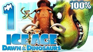 Ice Age 3: Dawn of the Dinosaurs Walkthrough Part 1 ~ 100% (PS3, X360, Wii, PS2, PC) Level 1