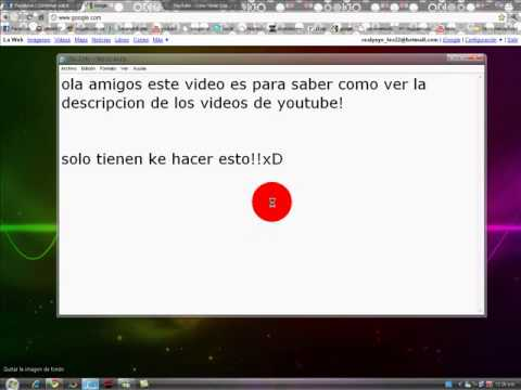 Como Ver La Descripcion De Los Videos De Youtube Youtube