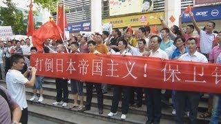 中国各地で反日デモ 一部暴徒化 日の丸燃やす