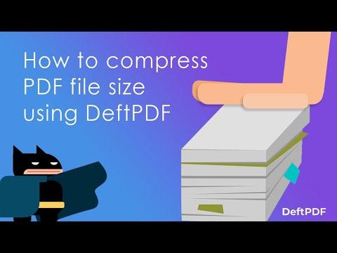 reduce pdf size manually online free