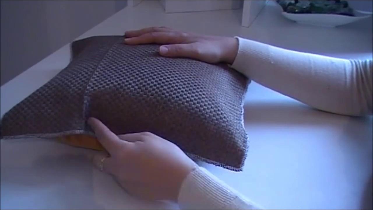 faire une housse de coussin dehoussable tuto couture : housse de coussin sans fermeture a glissière / DIY  faire une housse de coussin dehoussable