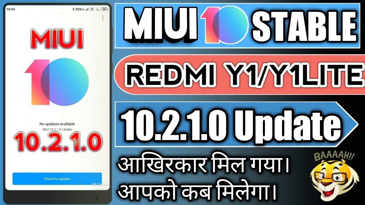 MIUI 10 2 1 0 Stable Update for REDMI Y1/Y1LITE Rolling out||MIUI10 Stable  Update for REDMI Y1 by Tech Star Sinha