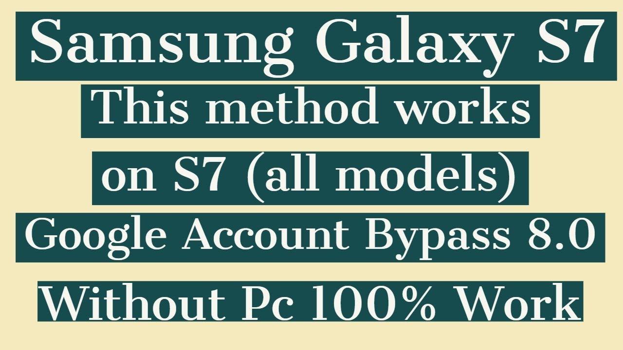 Samsung S7 Frp 8 0 Bypass | G935F Google Account Bypass 8 0 | (New