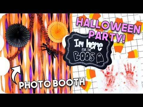 DIY Halloween Party Decor! Halloween 2017!