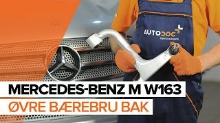 Hvordan bytte øvre bærebru bak på MERCEDES-BENZ M W163 BRUKSANVISNING   AUTODOC