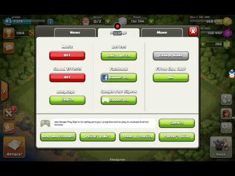 how to sign in clash of clans with google account youtube. Black Bedroom Furniture Sets. Home Design Ideas