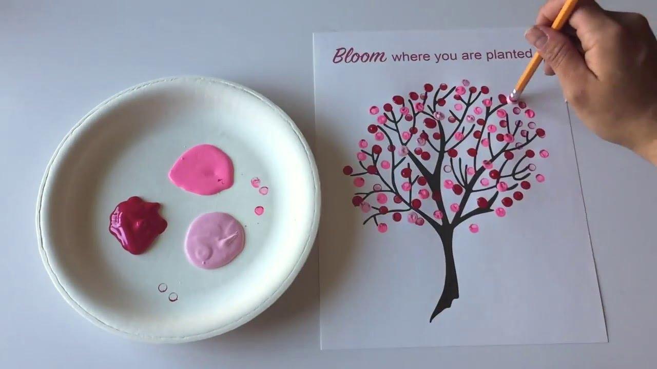 Japanese Cherry Blossom Art - YouTube