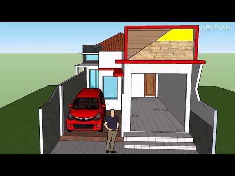 DESAIN Rumah dan toko luas 6 m x 20 m dengan 2 kamar tidur ...