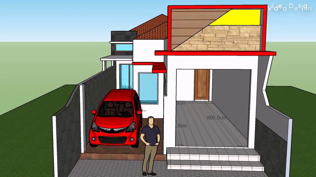 Desain Rumah Dan Toko Luas 6 M X 20 M Dengan 2 Kamar Tidur 1 Lantai Youtube