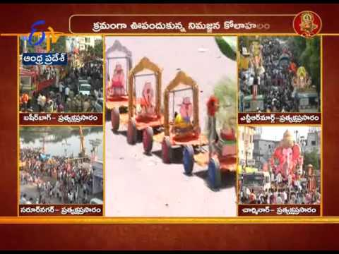 'Trally Ganesh' Attracting People In Hyderabad