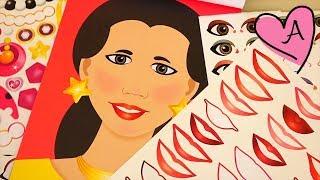 Actividad para hacer caras con pegatinas   Muñecas y juguetes con Andre para niñas y niños