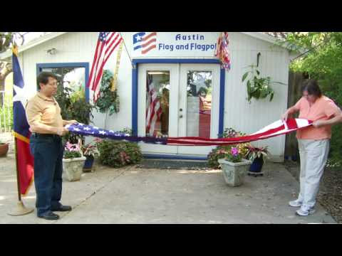 How To Handle & Fold The American Flag : How To Fold A Flag For A Military Funeral