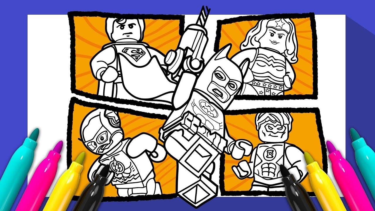 DC COMICS LEGO Superheroes Coloring Book | Justice League coloring ...