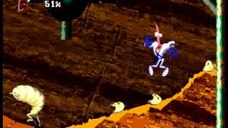 Earthworm Jim 2 - Earthworm Jim 2 (Sega Genesis) Hard Mode- died facing a boss in level 2 - User video