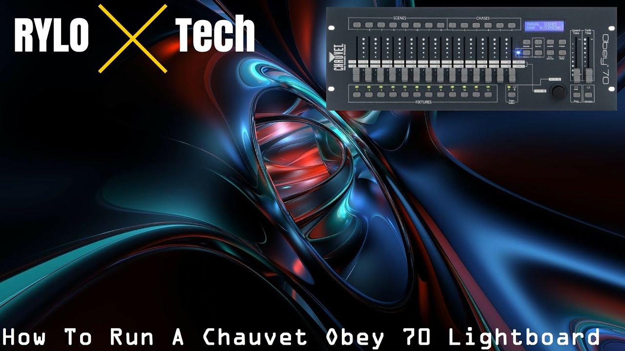 demonstration operating a chauvet obey 70 dmx controller youtube. Black Bedroom Furniture Sets. Home Design Ideas