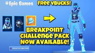 *NEW* BREAKPOINT CHALLENGE PACK AVAILABLE NOW! Fortnite BR (SIGNAL JAMMER BACK BLING & CHALLENGES)
