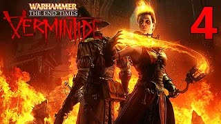 [4] Bright Wizard And Hard Mode! (Warhammer End Times Vermintide Multiplayer)