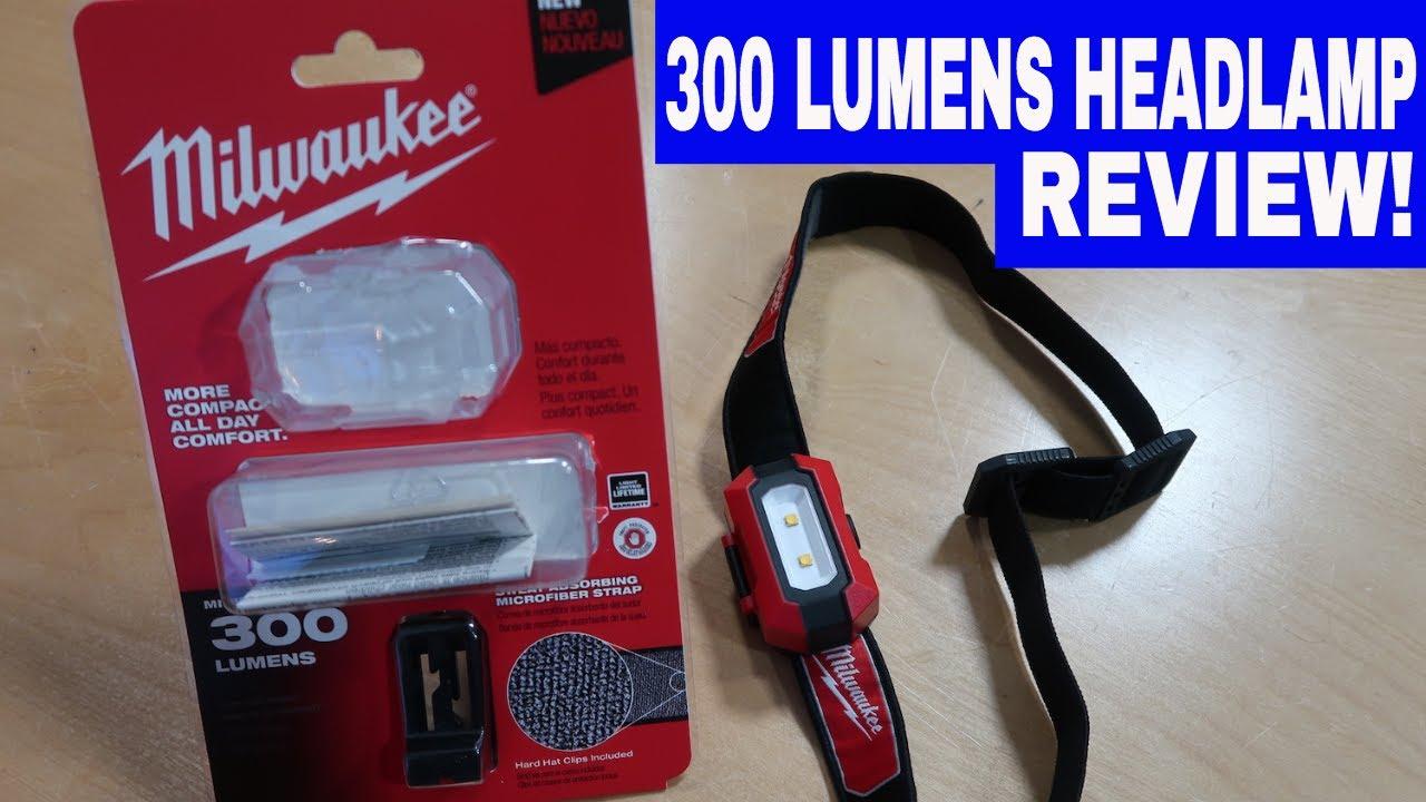 MILWAUKEE 300 LUMEN HEADLAMP 2106 -TOOL REVIEW TUESDAY ...