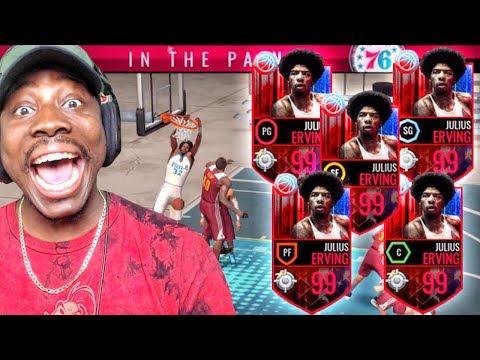 OMG FULL SQUAD OF 99 OVR DR. Js IN GAUNTLET! NBA Live Mobile Gameplay Ep. 150