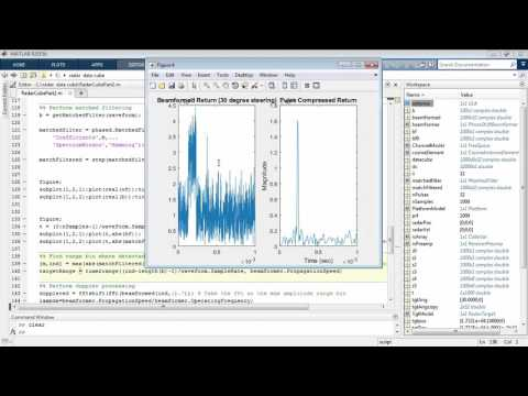 Processing a Radar Data Cube with MATLAB and Phased Array Sy
