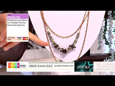 Blue Chalcedony and Red Magnesite on the Late Show with Ed McKay (JewelleryMaker) LIVE 25/09/2014