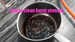 जला हुआ बर्तन कैसे साफ करे।