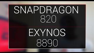 snapdragon 820 vs exynos 8890   benchmarks
