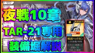 【ドールズフロントライン】10章夜戦:TAR-21専用装備堀解説【10-4n】のサムネイル