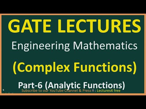 Complex Functions Part-6 (Analytic Function) ||Engineering Mathematics for Gate