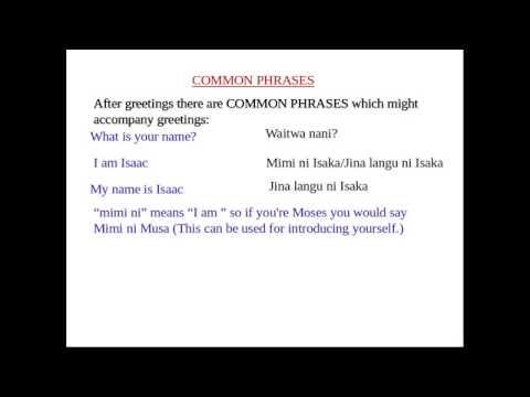 Swahili tutorial 1 greetingssalamu youtube swahili tutorial 1 greetingssalamu m4hsunfo Choice Image