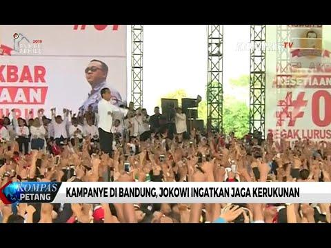 Kampanye Di Bandung, Jokowi Ingatkan Jaga Kerukunan