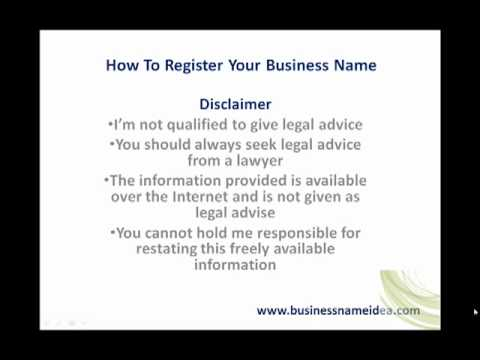 How to register business name in the State of Illinois - YouTube